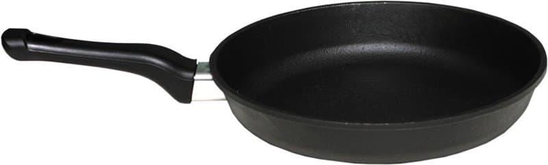Сковорода чугунная с пластиковой ручкой 230х40 мм. Балезинский ЛМЗ - фото 4693
