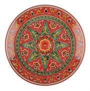 Ляган Риштанская Керамика 42 см. плоский, Qora galam
