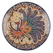 Ляган Риштанская Керамика 32 см. плоский, Жар-Птица